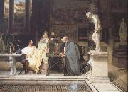 Alma-Tadema, Sir Lawrence A Roman Art Lover (mk23) oil